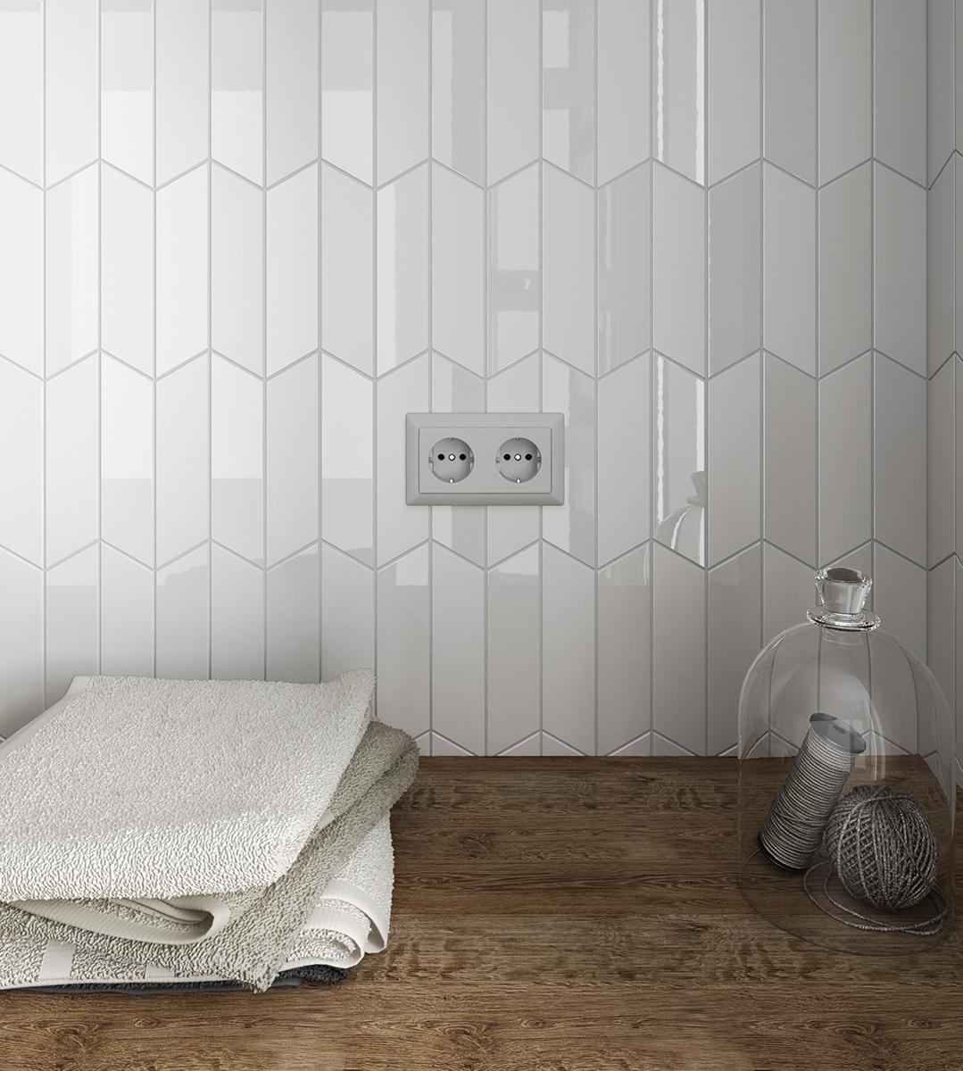 Hexagon Mosaic Tile Backsplash